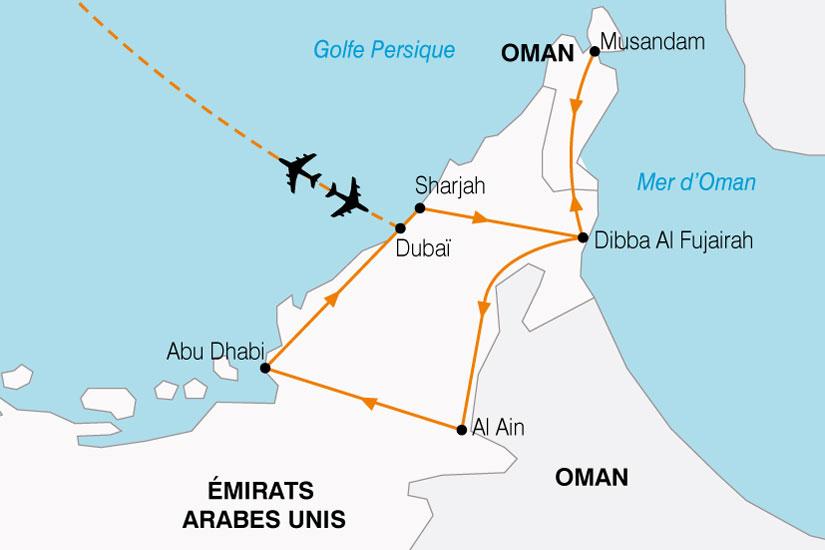 carte Emirats Pays Or Noir 258621
