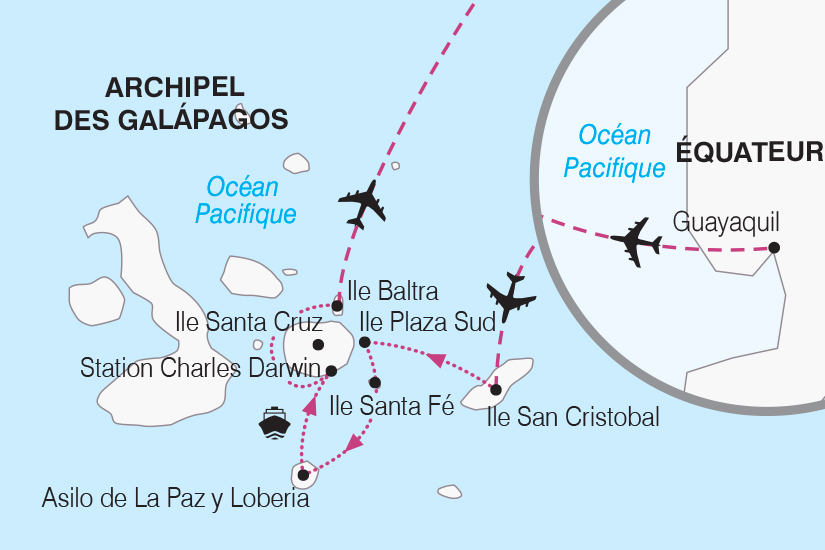 carte Equateur Croisiere aux Galapagos SH19 20_319 179454