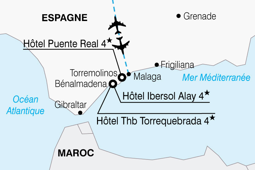 carte Espagne Andalousie Hotel Thb Torrequebrada 375009
