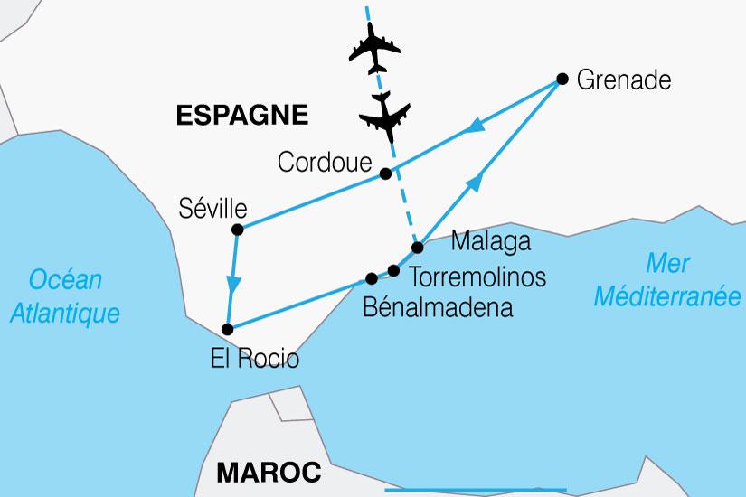 carte Espagne Andalousie Toute Liberte 450178