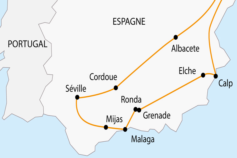 carte Espagne Andalousie depart sud 2019_297 412193