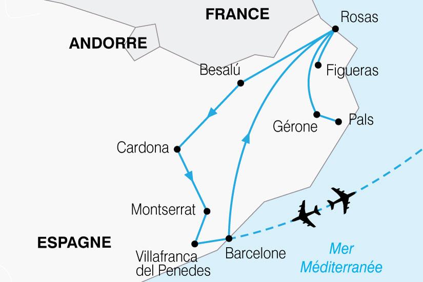 carte Espagne Barcelone Catalogne 377315