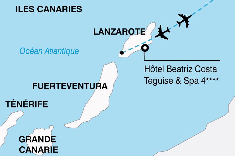carte Espagne Canaries Hotel Beatriz Costa Teguise Spa 827651