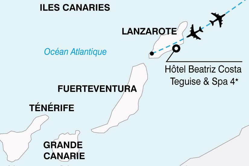 carte Espagne Canaries Hotel Beatriz Costa Teguise Spa 578786
