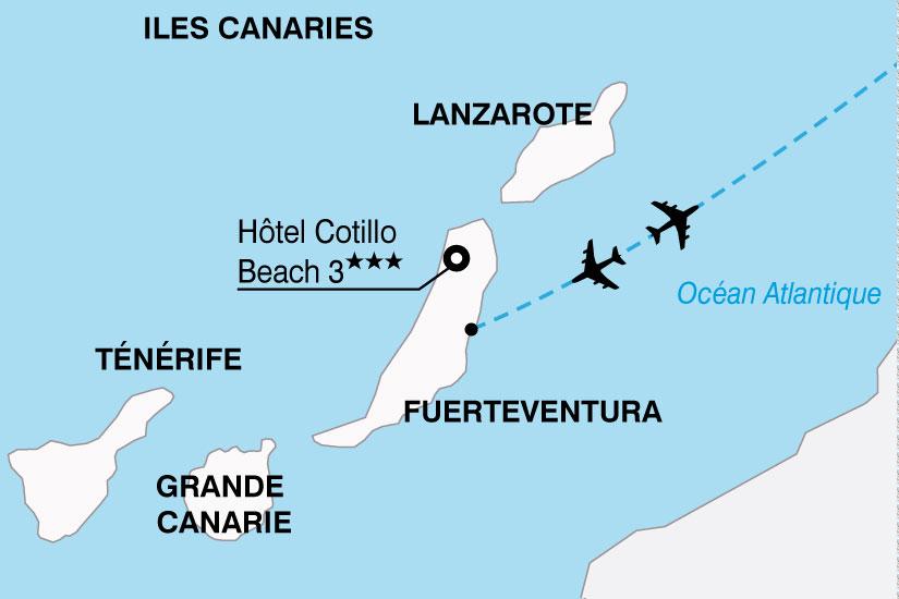 carte Espagne Canaries Hotel Cotillo Beach 649406