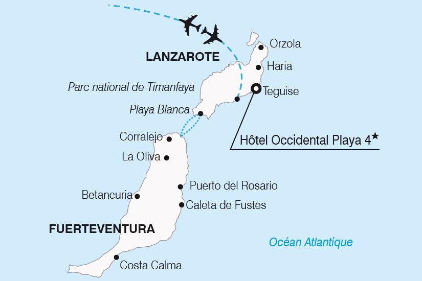 carte Espagne Canaries Sejour decouverte a Lanzarote SH20_339 294304