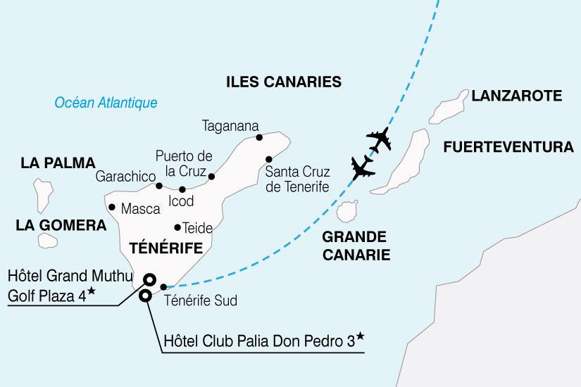 carte Espagne Canaries Visage Tenerife 880908