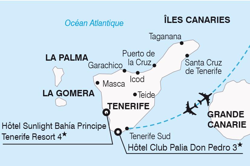 carte Espagne Canaries Visages de Tenerife SH19 20_319 595717