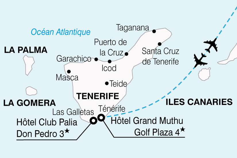 carte Espagne Canaries hotel Club Palia Don Pedro 158198
