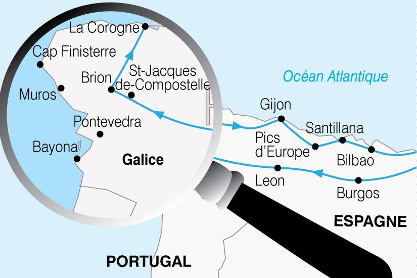 carte Espagne Chemins St Jacques 873993