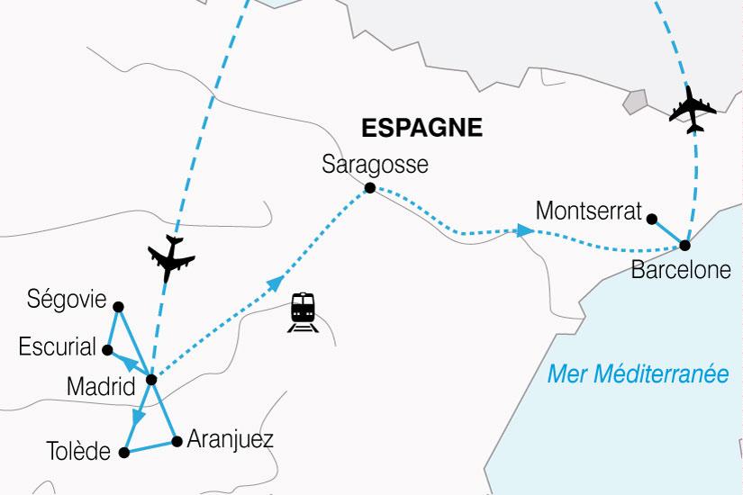 carte Espagne Combine Castille Catalogne 622443