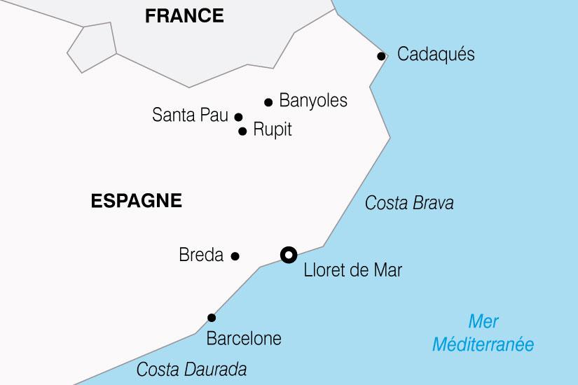 carte Espagne Costa Brava 227760