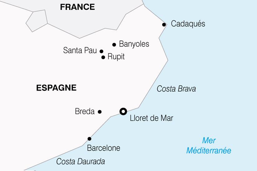 carte Espagne Costa Brava 864017