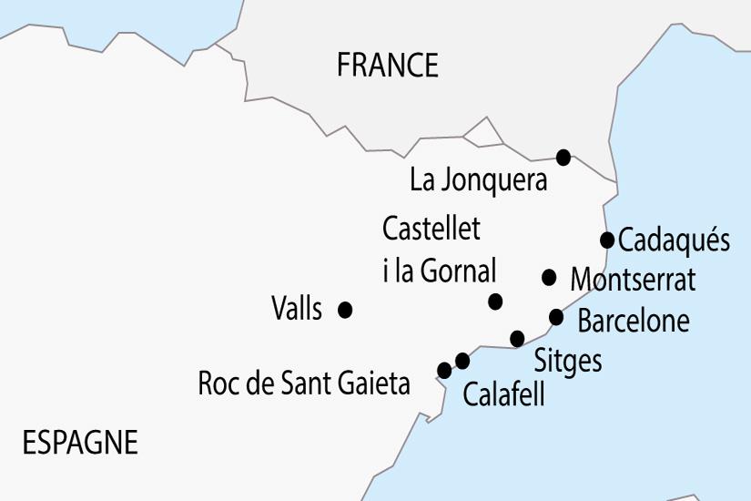 Costa Brava Costa Dorada Karte.Voyage En Autocar En Espagne La Costa Brava Et La Costa