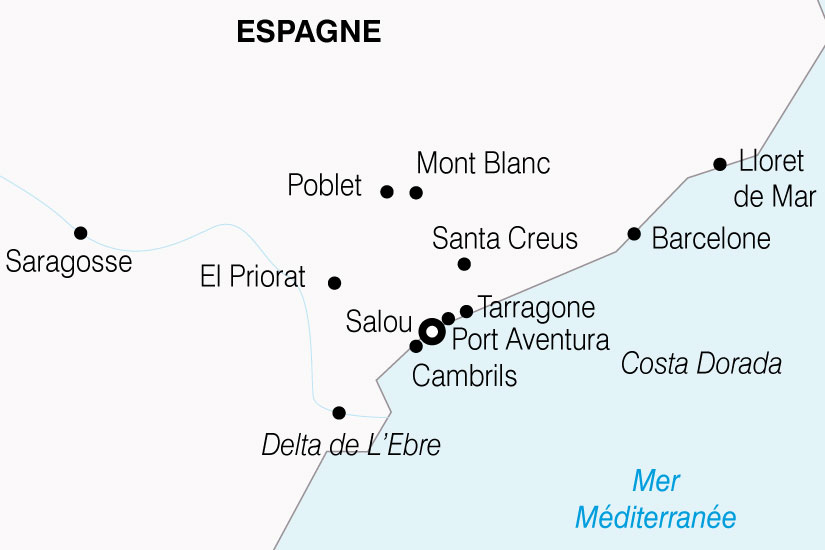 carte Espagne Costa Daurada Port Aventura 314327