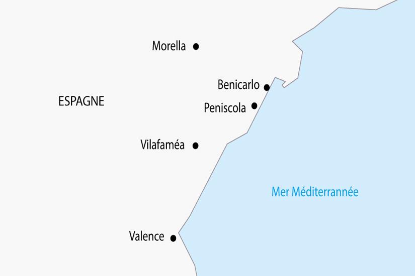 carte Espagne Costa del Azahar Peniscola depart sud 2019_297 141001