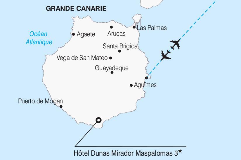 carte Espagne Escapade a Grande Canarie 267 757881