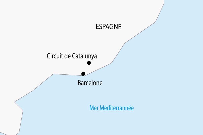carte Espagne Grand Prix Formule 1 Barcelone depart sud 2019_297 231076