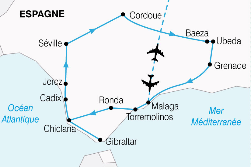 carte Espagne Grand Tour Andalousie 487843