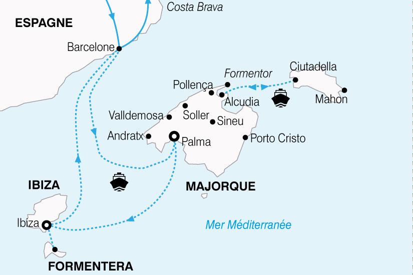 carte Espagne Grand Tour Baleares 656285