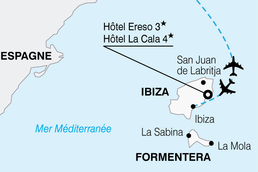 carte Espagne Ibiza Hotel Ereso 696043