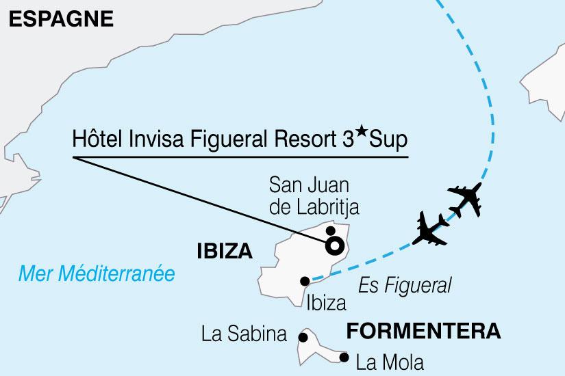 carte Espagne Ibiza Hotel Invisa Figueral 165903