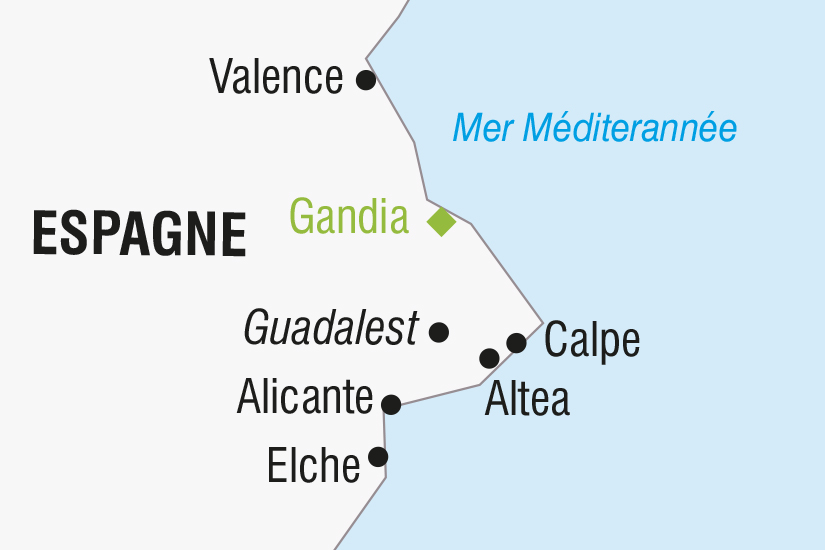 carte Espagne La Costa Blanca et Valencia SH SUD19 20_321 519546