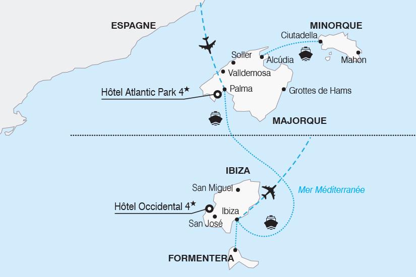 carte Espagne Le Grand Tour des Baleares SH20_339 515559