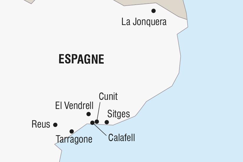 (Map) carte Espagne Les Carnavals El Vendrell Cunit Tarragone SH SUD19 20_321
