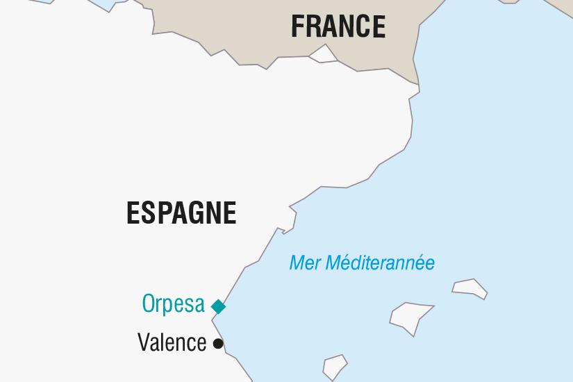 (Map) carte Espagne Les Fallas de Valencia SH SUD19 20_321