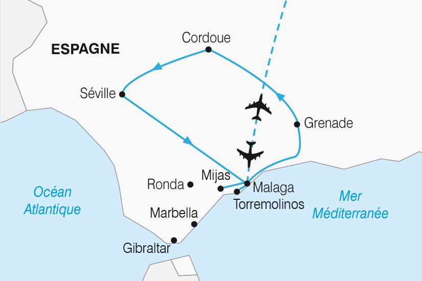 carte Espagne Les Joyaux de l Andalousie SH22_388 850508