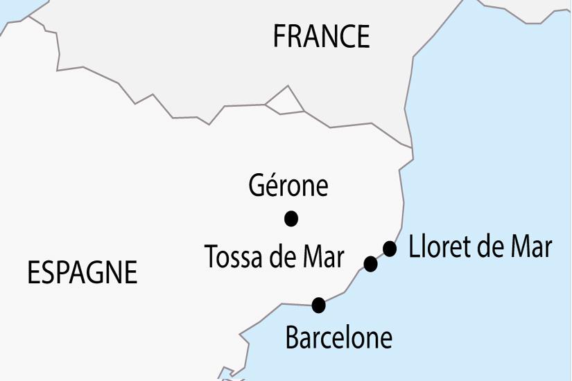 carte Espagne Lloret de Mar depart sud 2019_297 498100