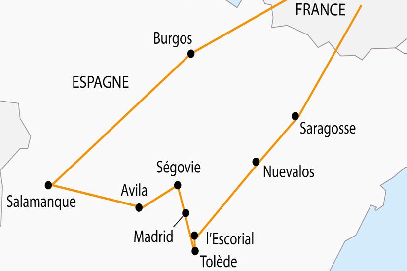 carte Espagne Madrid Castille depart sud 2019_297 227224
