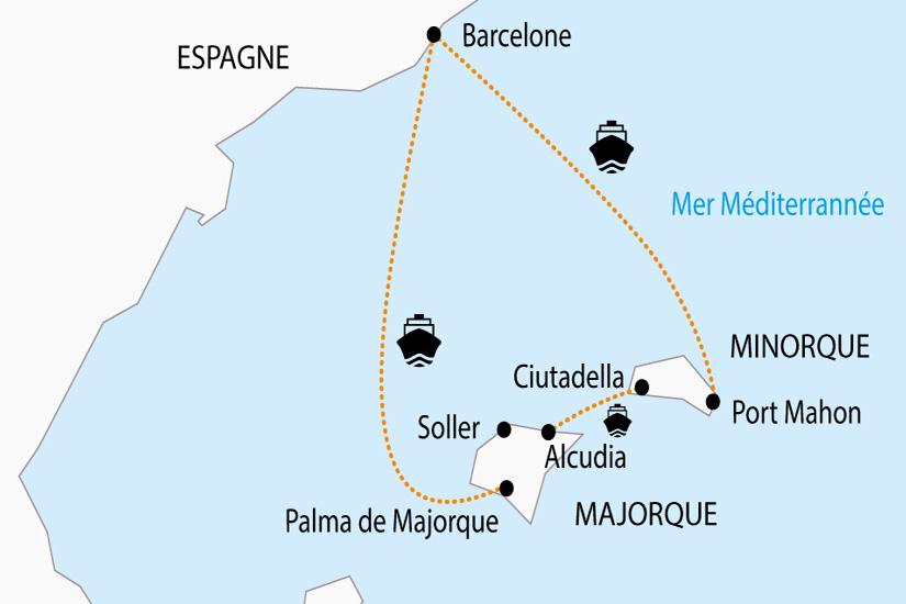 carte Espagne Majorque Minorque depart sud 2019_297 885868