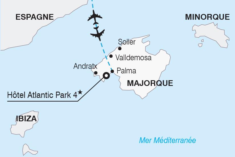 carte Espagne Majorque et Minorque les perles des Baleares SH20_339 623518