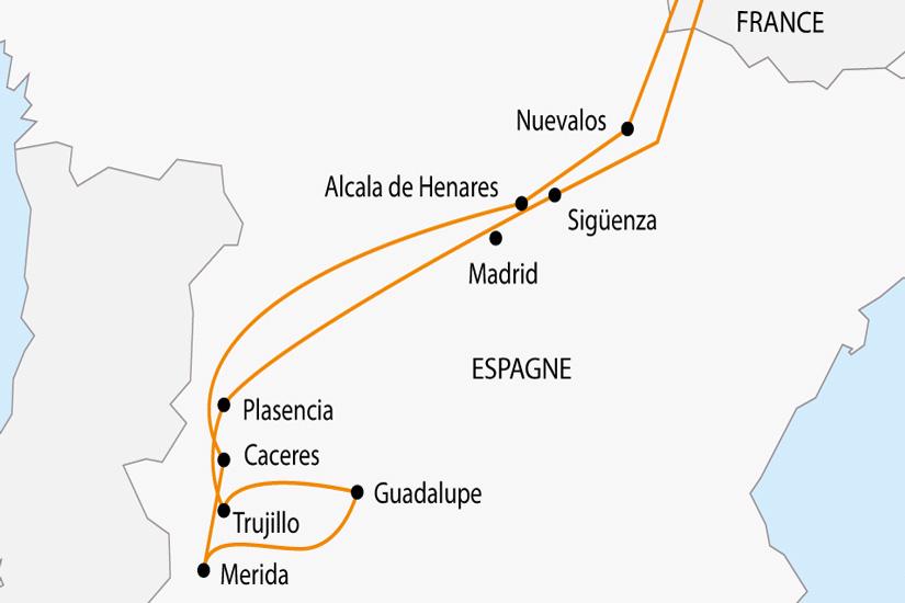 carte Espagne Secrete en Paradores depart sud 2019_297 383989