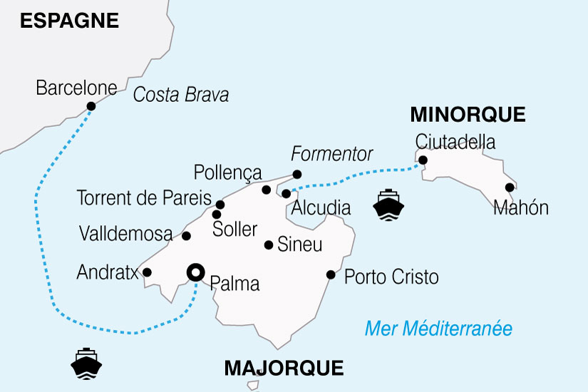 carte Espagne Sejour Decouverte Majorque 328175