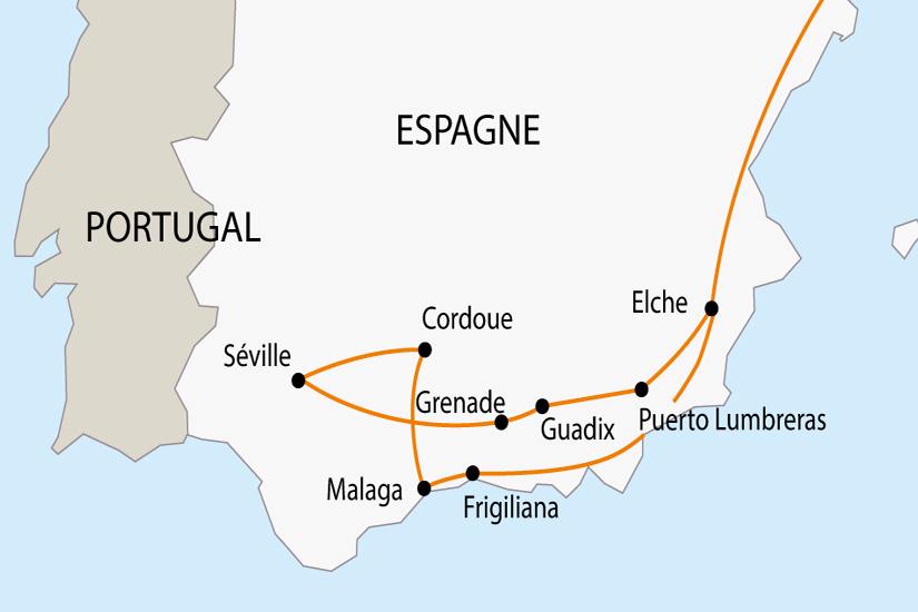 Andalousie Carte Didentite.Voyage En Autocar En Espagne La Semaine Sainte En Andalousie