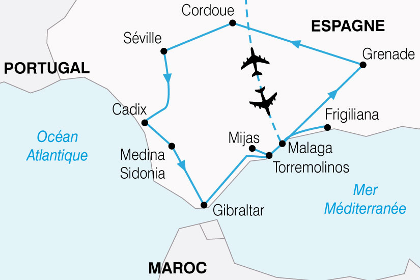 carte Espagne Splendeurs Andalouses 713776