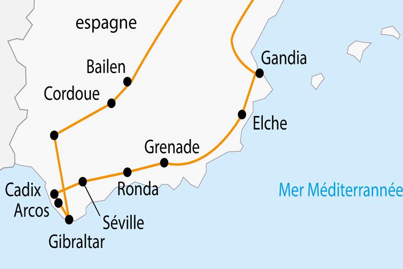 carte Espagne Villages Blancs Andalous et Gibraltar depart sud 2019_297 150607