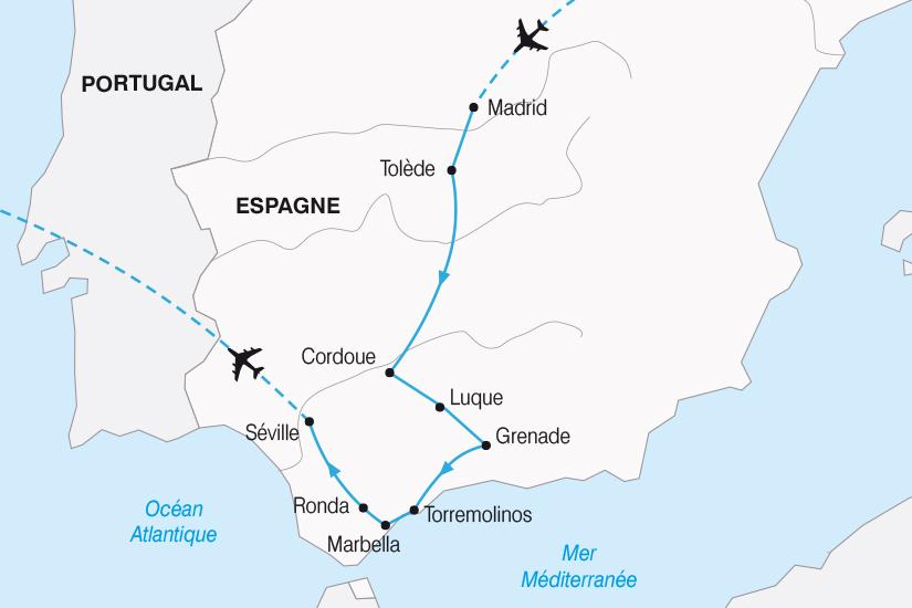 carte Espagne de la Castille a l Andalousie SH20_339 136631