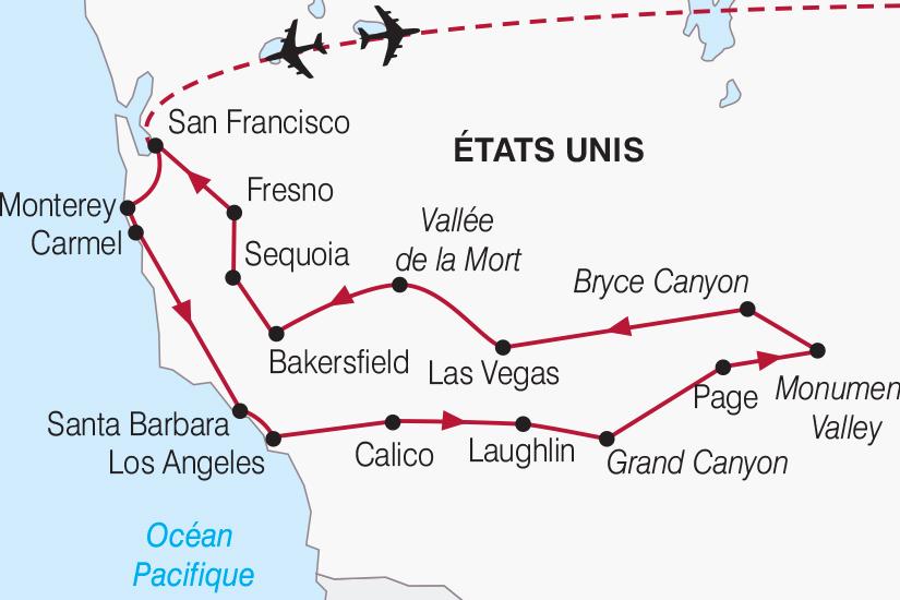 carte Etats Unis Escapade californienne 2018_267 662297