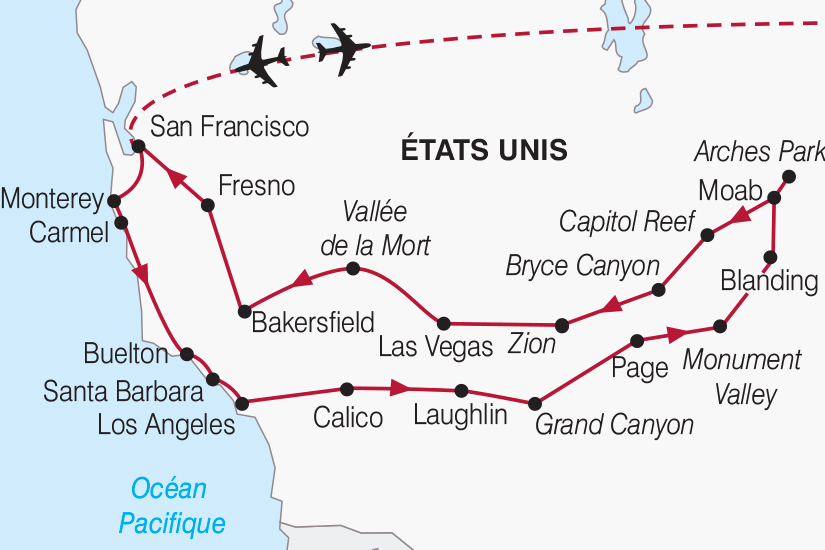 carte Etats Unis Immersion en terres americaines 2018_267 691178