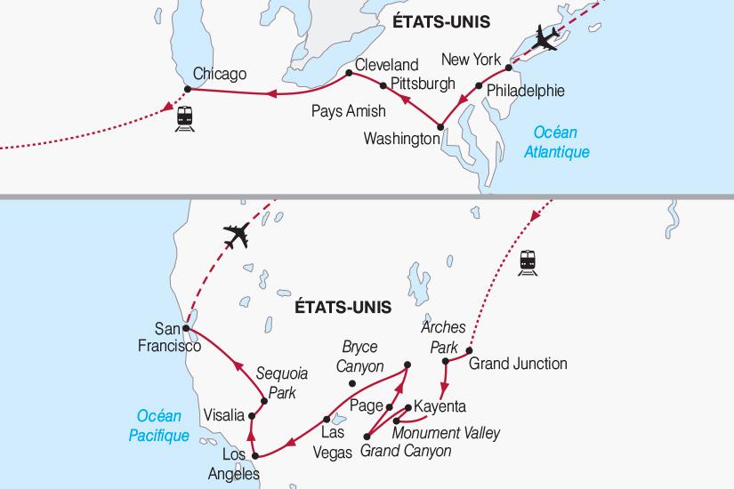 carte Etats Unis La Grande Traversee des USA de l Atlantique au Pacifique 2018_267 646189