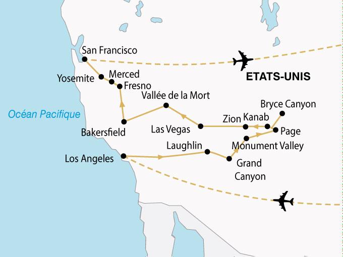 circuits etats unis panoramas ouest americain