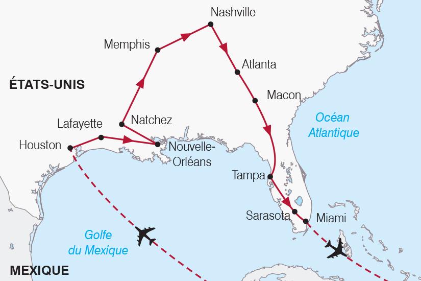 carte Etats Unis Texas Louisiane Floride SH20_339 580066