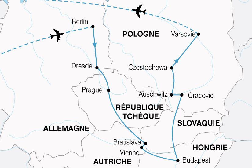 carte Europe Centrale Grand Tour 800048