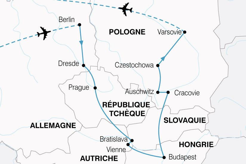 carte Europe Centrale Grand Tour 116883