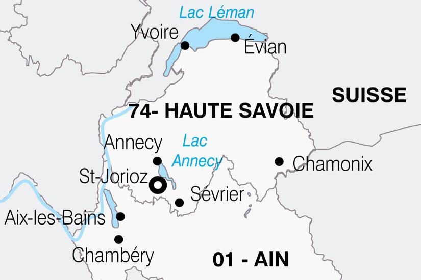 carte France Alpes Lac Annecy 322899