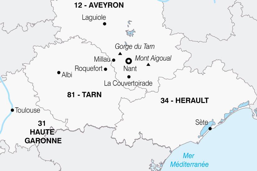 carte France Aveyron Portes Du Soleil 248834
